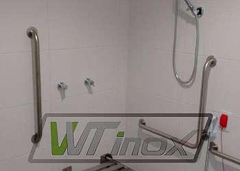 Banco de apoio em aço inox para banheiro preço
